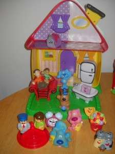 Blues Clues Figures Large House Magenta Tickety Lot 1