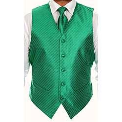 Ferrecci Mens Four piece Green Vest Set