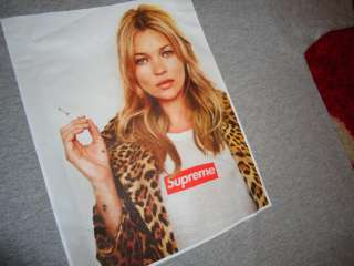 SUPREME 2012 S/S KATE MOSS BOX LOGO TEE SHIRT GRAY M L X SAFARI