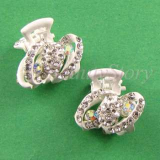 SHIPPING 2pc Austrian rhinestone crystal fashion hair claw clip