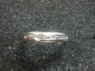 Vintage Magicglo 14k white gold .25CT diamond ring/band