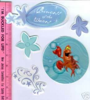 ARIEL LITTLE MERMAID wall stickers 28 decal Disney room decor Flounder