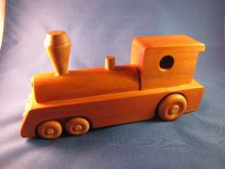 EAGLE WOODEN TRAIN STEAM ENGINE TOY HANDMADE UNIQUE