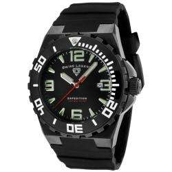 Swiss Legend Mens Expedition Black Dial Black Silicon Watch