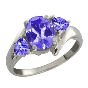 1.58 Ct Genuine Oval Blue Tanzanite Gemstone Sterling