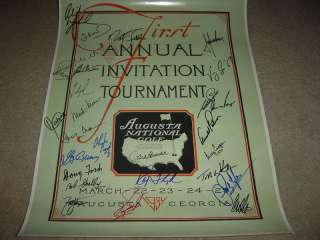 First Augusta National Golf Club 1934 Signed 27 Winners