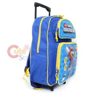 Super Mario Wii School Roller Backpack Rolling Bag 16L