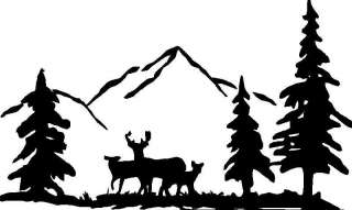 Deer in Woods Hunting,Camping,Sticker,Decal,Graphic