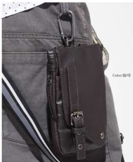 Cool Black Mens Leather Casual Fanny Waist Pack  734