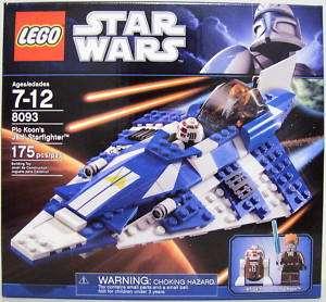 PLO KOONS JEDI STARFIGHTER Star Wars Lego #8093 2010