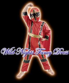 FANCY DRESS ~ BOYS MYSTIC FORCE RED POWER RANGERS MEDIUM AGE 5 7