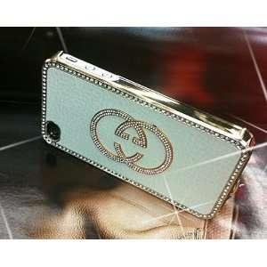 Luxury Designer Crystal Gg Gold Trim Back Iphone 4/4s Case