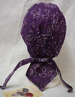 Purple Paisley Chemo Cancer Head Wrap Hat Durag Cap NWT