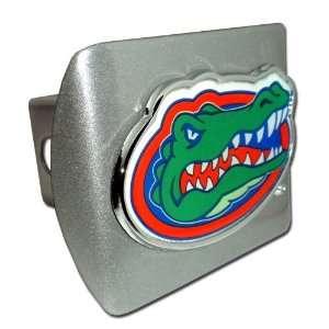 University of Florida Brushed Silver with Color Gator Head Emblem