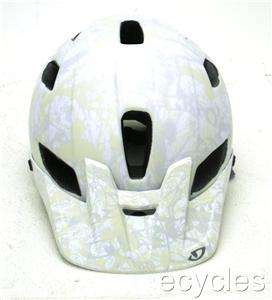 Giro FEATURE Mountain Bike Helmet Matte White/Grey Evil LARGE MSRP $