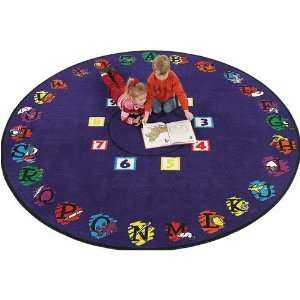 Carpets Novelty Educational Super Circle Kids Rug   SCIR6 Round