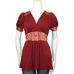 Monteau Juniors Bohemian Empire Waist Shirt