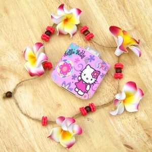 hello kitty pink flower portable mobile charger for iphone