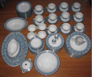 Imperial Deluxe Fine China Set Sango Cornwall Japan vtg