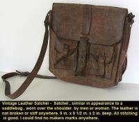 Vintage HIPPIE BAG Genuine Cowhide Leather BOHO Satchel Unisex Casting