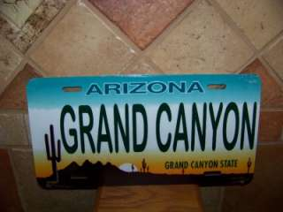 GRAND CANYON ARIZONA NEW LICENSE PLATE TAG