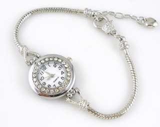 Watch Bracelet Inlay Crystal Fit European Bead 20cm WP21