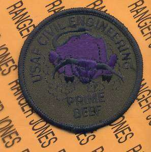 USAF CIVIL ENGINEERING PRIME BEEF patch