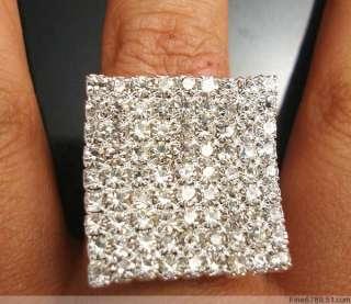 Wholesale 36pcs Fashion Square Crystal Rhinestone Rings