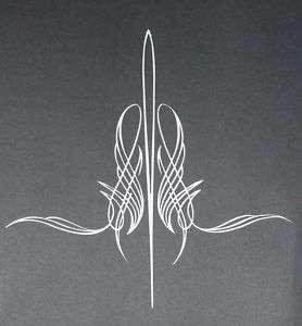 Pinstripe 05 Von Dutch Style Vinyl Decal 10.5x10.5