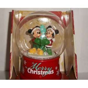 Mickey & Minnie Mouse Animated Musical Snow Globe