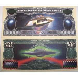 Set of 10 Bills UFO Million Dollar Bill Toys & Games