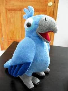Rio The Movie Toy Blue Macaw Plush Bird Doll   Blu