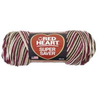 Red Heart Super Saver Yarn 966 Cherry Chip 5 oz Crafts