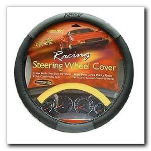 Racing Steering Wheel Cover, Gray (54 6447) Automotive