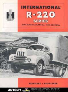 1955 International R220 Truck Brochure