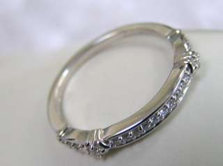 STYLE 14KT SOLID WHITE GOLD DIAMOND WEDDING BAND DECO RING