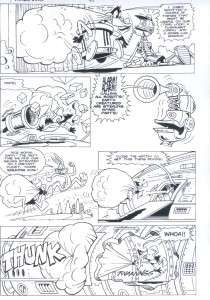 Looney Tunes original comic book art signed 2 U Bugs Bunny Daffy Astro