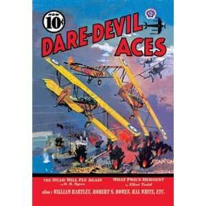 Walls 360 Wall Poster/Decal   Dare Devil Aces The Dead Will Fly