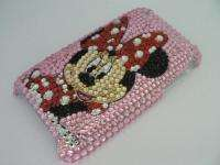 Disney Minnie Mouse pink skin bling Crystal cover case for Apple