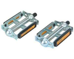 Bicycle 616 Steel Pedals 9/16 Chrome Cycling Bike