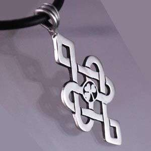 Irish Clover Celtic Knot Shamrock Pewter Pendant Choker
