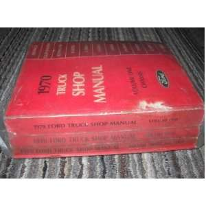 Service Shop Manual Set (5 volume set) ford motors company Books