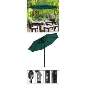 9 ft Outdoor Patio Tilt Table Umbrella Green Patio, Lawn