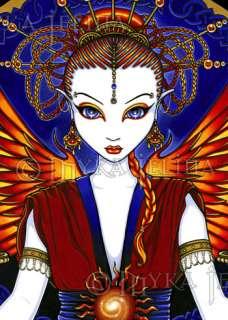 Solar Sun Goddess Fire Angel Fairy OOAK ACEO Solara CU