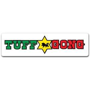 Bob Marley Tuff & Gong Music Car Bumper Decal Sticker 7x2