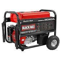Black Max 7,000 Watt Portable Gas Generator with Electric Start