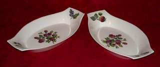 NORSK EGERSUND 2 AUGRATIN DISHES FRUIT DESIGN #8751