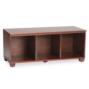 Alaterra Solid Wood Cubby Bench   Cherry Furniture