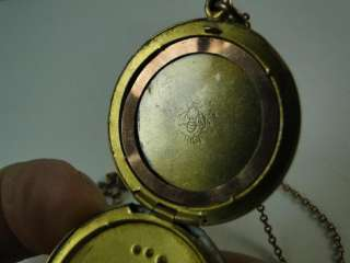 Gold Plated Necklace Pendant Locket Crescent Moon Star