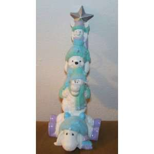 Disney Retired Rare Winnie the Pooh & Friends Totem Pole